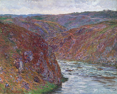 Mountain Valley Painting - Valley Of The Creuse  Gray Day  by Claude Monet