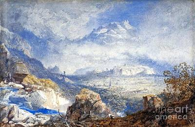 Citadel Painting - Valley Of The Rhone With The City And Citadel  by MotionAge Designs
