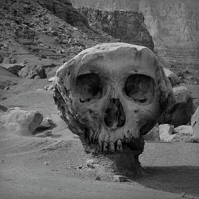 Montage Photograph - Valley Of The Skulls I Bw by David Gordon