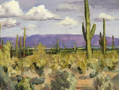 Painting - Valley Of The Sun Looking East by Bill Tomsa