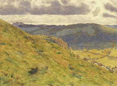 Valley Of The Teme, A Sunny November Morning Art Print