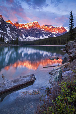 Valley Of The Ten Peaks Print by Tomas Nevesely