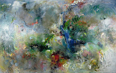 Abstracted Painting - Valley Of The Waterfalls by Jane Deakin