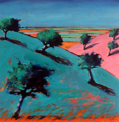 Vivid Colour Painting - Valley by Paul Powis