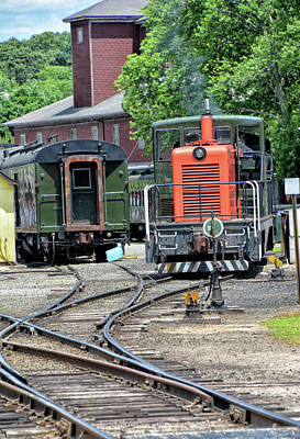 Photograph - Valley Railroad Company Yard by Mike Martin