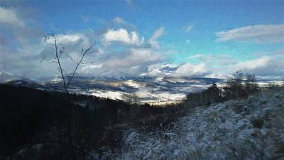 Digital Art - Valley Snow 2 by Ernie Echols