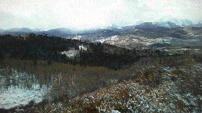 Digital Art - Valley Snow by Ernie Echols