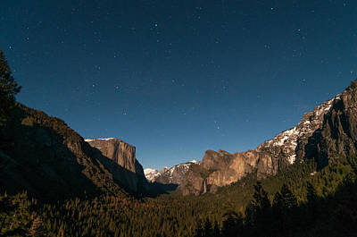 Photograph - Valley View By Moon Light by Connie Cooper-Edwards