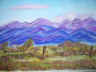 Painting - Valley View by Kerry Bennett