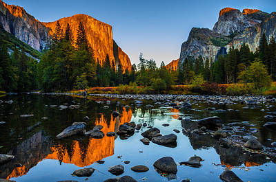 Reflections Photograph - Valley View Yosemite National Park by Scott McGuire