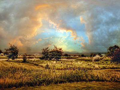 Pastoral Digital Art - Valley Views by Jessica Jenney