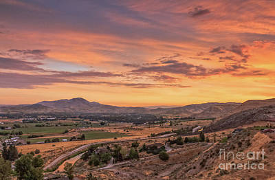 Photograph - Valley Waking Up by Robert Bales