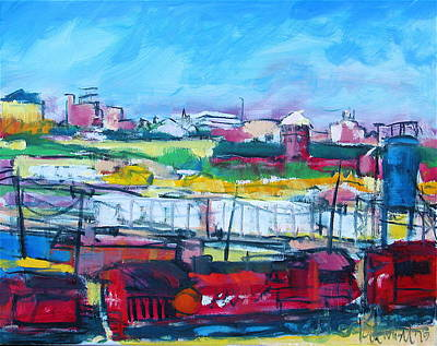Painting - Valley Yard by Les Leffingwell