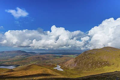 Art Print featuring the photograph Valleys And Mountains In County Kerry On A Summer Day by Semmick Photo