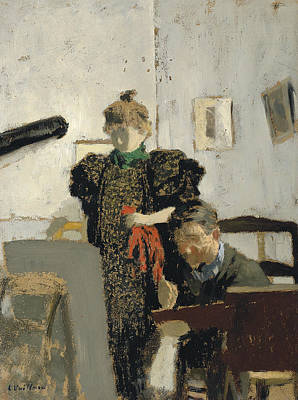 Painting - Vallotton In The Natanson by Edouard Vuillard