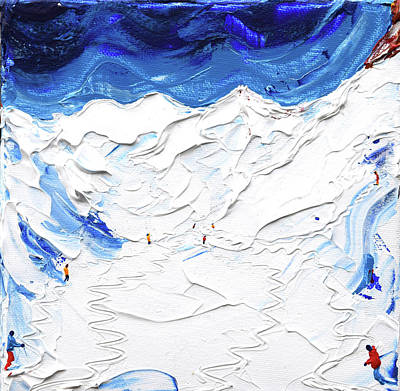 Painting - Valluga In Deep Powder by Pete Caswell