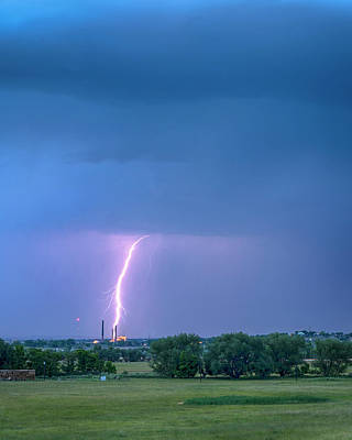 Photograph - Valmont Power Station Boulder Colorado by James BO Insogna