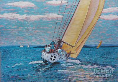 Valour -chester Race Week Art Print by Rae  Smith