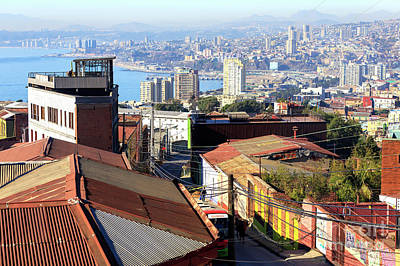 Photograph - Valparaiso City View Chile by John Rizzuto