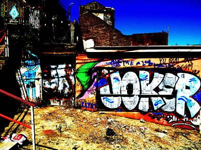 Valparaiso Photograph - Valparaiso Joker Graffiti by Funkpix Photo Hunter