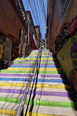 Photograph - Valparaiso Street Art 25 by Aidan Moran