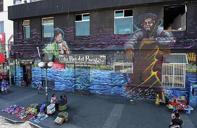 Photograph - Valparaiso Street Art 27 by Aidan Moran