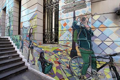 Photograph - Valparaiso Street Art 30 by Aidan Moran