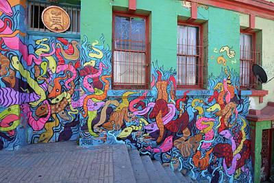 Photograph - Valparaiso Street Art 32 by Aidan Moran