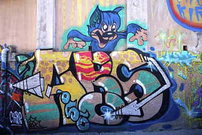 Photograph - Valparaiso Street Art 33 by Aidan Moran