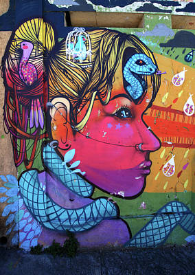 Photograph - Valparaiso Street Art 38 by Aidan Moran