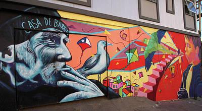 Photograph - Valparaiso Street Art 40 by Aidan Moran