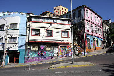 Photograph - Valparaiso Street Art 44 by Aidan Moran