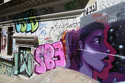 Photograph - Valparaiso Street Art 46 by Aidan Moran