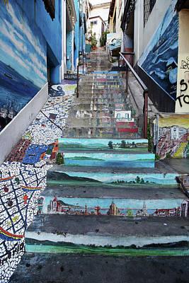 Photograph - Valparaiso Street Art 47 by Aidan Moran