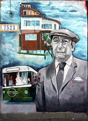 Valparaiso Street Art, Pablo Neruda Art Print by Aidan Moran