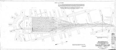 Valuation Map Washington Union Station Art Print