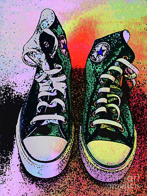 Sneakers Digital Art - Vamba 2017 01 by Don Pedro De Gracia