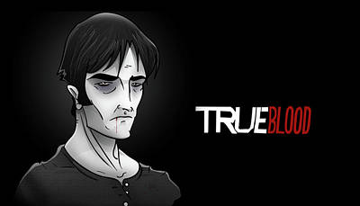 Bill Compton Digital Art - Vampire Bill Compton by Justin Peele