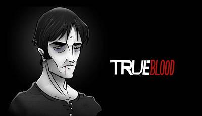 Digital Art - Vampire Bill Compton by Justin Peele