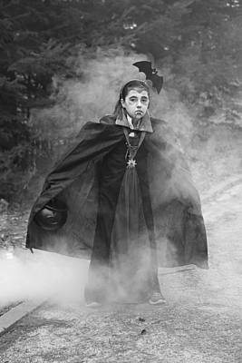 Photograph - Vampire In The Fog by Barbara West