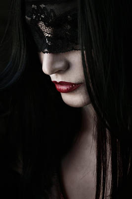 Lace Photograph - Vampire Kiss by Cambion Art