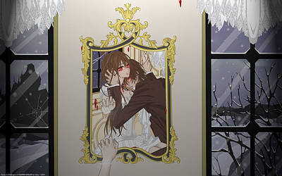 Floral Digital Art - Vampire Knight by Maye Loeser