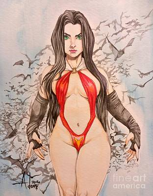 Vampirella Painting - Vampirella  by Jimmy Adams