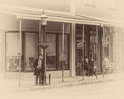 Photograph - Van Buren Street Scene by James Barber