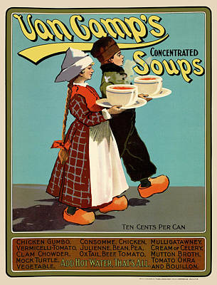 Photograph - Van Camp's Soups Poster by Phil Cardamone