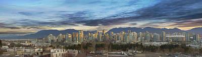 Van City Sunrise Art Print by David Gn