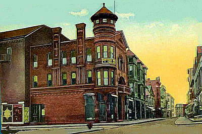 Van Curler Opera House In Schenectady N Y 1910 Art Print