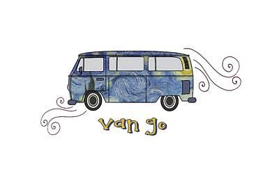 Digital Art - Van Go by Heather Applegate