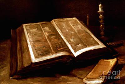 Photograph - Van Gogh: Bible, 1885 by Granger