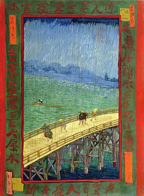 Painting - Van Gogh Bridge In Rain After Hiroshige by Vincent Van Gogh